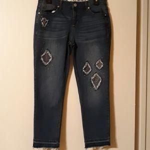 Code Bleu Cropped Jeans